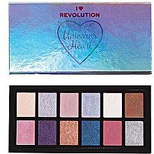 Düfte, Parfümerie und Kosmetik Lidschattenpalette - Makeup Revolution Unicorns Heart Eyeshadow Palette