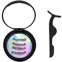 Düfte, Parfümerie und Kosmetik Wimpernset (Künstliche Wimpern 2 Paare + Wimpernapplikator 1 St.) - Moon Lash Magnetic Eyelashes 001 Magnetic Moon
