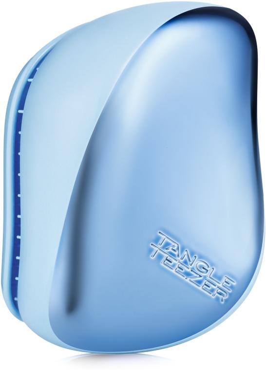 Kompakte Haarbürste chrom-blau - Tangle Teezer Compact Styler Sky Blue Delight Chrome