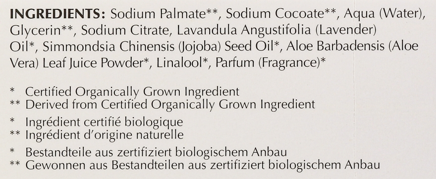 Feuchtigkeitsspndende und beruhigende Bio Seife mit Lavendel-, Aloe- und Jojobaöl - Bentley Organic Body Care Calming & Moisturising Soap Bar — Bild N4