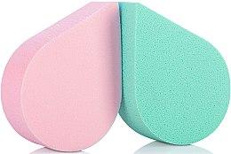 Düfte, Parfümerie und Kosmetik Make-up Schwämchen 35814 grün, rosa 2 St. - Top Choice