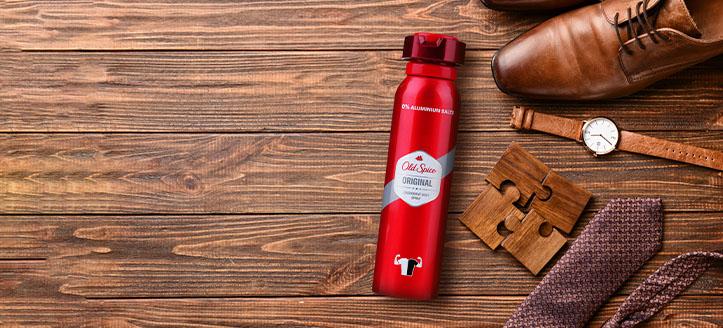 Sie erhalten ein Deospray für Männer geschenkt beim Kauf von Old Spice Produkten ab 9 €