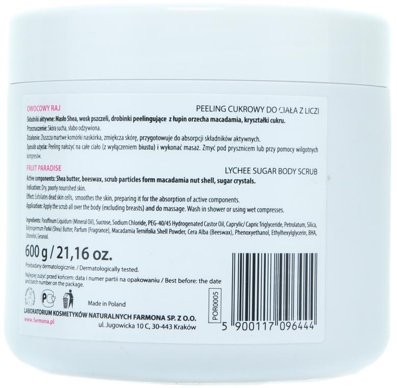 Anti-Cellulite Zuckerpeeling für den Körper - Farmona Professional Owocowy Raj — Bild N5