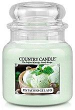 Düfte, Parfümerie und Kosmetik Duftkerze im Glas Pistachio Gelato - Country Candle Pistachio Gelato