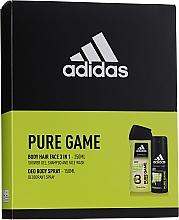 Düfte, Parfümerie und Kosmetik Adidas Pure Game - Körperpflegeset (Deospray 150ml + Duschgel 250ml)