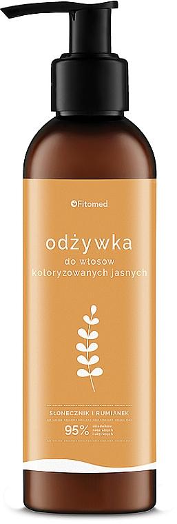 """Haarspülung für hell-coloriertes Haar """"Kamille und Sonnenblume"""" - Fitomed Chamomile And Sunflower Herbal Conditioner Blonde"""