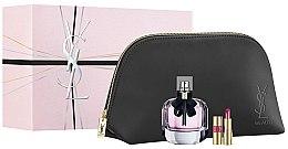 Düfte, Parfümerie und Kosmetik Yves Saint Laurent Mon Paris - Duftset (Eau de Parfum 90ml + Lippenstift 1,6g + Kosmetiktasche)