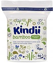 Düfte, Parfümerie und Kosmetik Wattepads für Babys und Kinder 60 St. - Cleanic Kindii Bamboo Cotton Pads