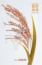 Düfte, Parfümerie und Kosmetik Tuchmaske für das Gesicht mit Reis - The Saem Natural Mask Sheet Rice