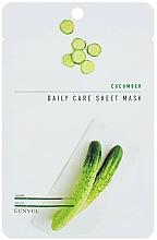 Düfte, Parfümerie und Kosmetik Feuchtigkeitsspendende Tuchmaske für das Gesicht mit Gurkenextrakt - Eunyul Daily Care Mask Sheet Cucumber