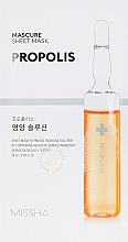 Düfte, Parfümerie und Kosmetik Pflegende Tuchmaske für das Gesicht mit Propolis-Extrakt - Missha Nutrition Solution Sheet Mask