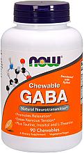 Düfte, Parfümerie und Kosmetik Nahrungsergänzungsmittel GABA mit Orangengeschmack 90 Kautabletten - Now Foods GABA Chewable Natural Orange Flavor