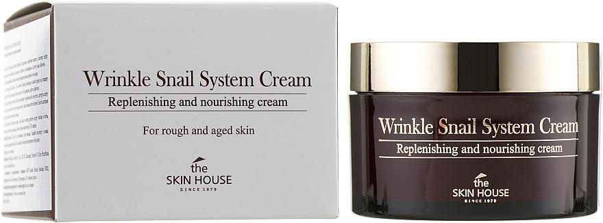 Nährende Anti-Falten Gesichtscreme mit Schneckenschleimfiltrat - The Skin House Wrinkle Snail System Cream
