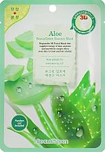 Düfte, Parfümerie und Kosmetik Feuchtigkeitsspendende und glättende Tuchmaske mit Aloeextrakt für müde Gesichtshaut - Beauugreen Contour 3d Aloe Essence Mask