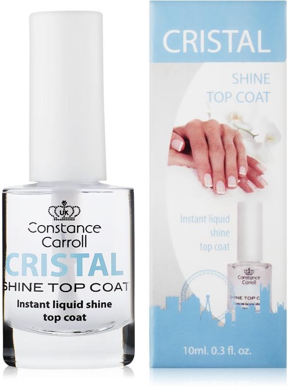 Glänzender Nagelüberlack mit UV-Filter - Constance Carroll Cristal Shine Top Coat