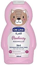 Düfte, Parfümerie und Kosmetik 3in1 Duschgel für Körper, Gesicht und Haar mit Marshmallow-Duft - On Line Le Petit Marshmallow 3 In 1 Hair Body Face Wash