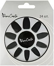 Düfte, Parfümerie und Kosmetik Mattierende künstliche Nägel schwarz - Deni Carte