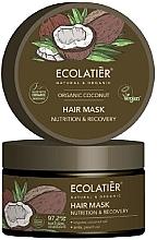Düfte, Parfümerie und Kosmetik Pflegende und regenerierende Haarmaske mit Kokosnuss - Ecolatier Organic Coconut Hair Mask