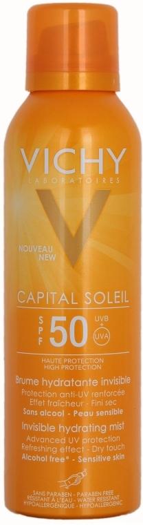 Feuchtigkeitsspendendes und transparentes Sonnenschutzspray für Körper und Gesicht SPF 50 - Vichy Capital Soleil SPF 50 Invisible Hydrating Mist — Bild N1