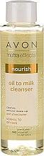 Düfte, Parfümerie und Kosmetik Pflegende Gesichtsreinigungslotion zum Abschminken mit Scheabutter für normale bis trockene Haut - Avon Nutra Effects Nourish Oil To Milk