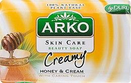 Düfte, Parfümerie und Kosmetik Parfümierte Körperseife - Arko Beauty Soap Creamy Honey & Cream