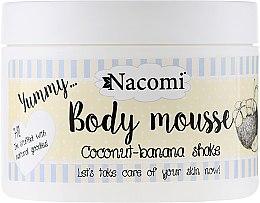 "Düfte, Parfümerie und Kosmetik Körpermousse ""Kokos-Bananen-Shake"" - Nacomi Body Mousse Coconut-Banana Shake"