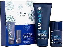 Düfte, Parfümerie und Kosmetik Körperpflegeset - Lumene Men Raikas Refreshing Morning Set (2in1 Shampoo-Duschgel 200ml + Deostick 70g)