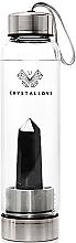 Düfte, Parfümerie und Kosmetik Wasserflasche mit schwarzem Obsidiankristall 500 ml - Crystallove