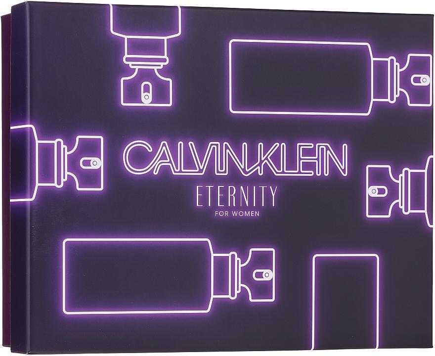 Calvin Klein Eternity For Woman - Duftset (Eau de Parfum 100ml + Eau de Parfum 10ml + Körperlotion 100ml)