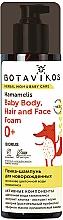 Düfte, Parfümerie und Kosmetik Schäumendes Shampoo für Neugeborene mit Hamamelisblütenwasser - Botavikos Baby Body, Hair And Face Foam