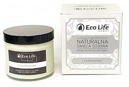 """Düfte, Parfümerie und Kosmetik Eco Life Candles - Natürliche Soja-Duftkerze im Glas """"Zimt"""""""