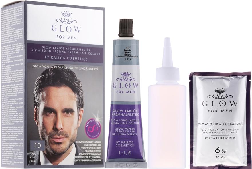 Haarfarbe - Kallos Cosmetics Glow Long Lasting Cream Hair Colour Man — Bild N1