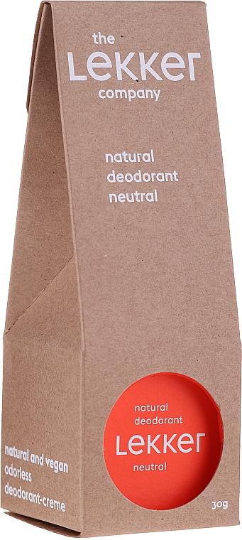 Natürliche Deodorant-Creme ohne Duft - The Lekker Company Natural Deodorant Neutral — Bild N1