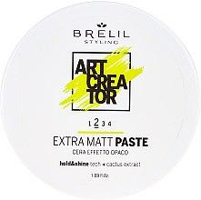 Düfte, Parfümerie und Kosmetik Modellierende Haarpaste für extra Matteffekt mit Kaktus-Extrakt - Brelil Art Creator Extra Matt Paste