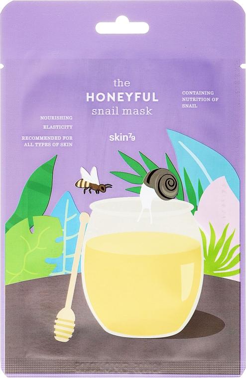 Feuchtigkeitsspendende und pflegende Gesichtsmaske mit Schneckenschleim-Extrakt und Honig - Skin79 The Honeyful Snail Mask