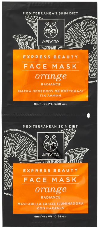Glättende Gesichtsmaske mit Orange - Apivita Express Beauty Radiance Face Mask