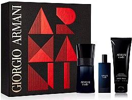 Düfte, Parfümerie und Kosmetik Giorgio Armani Code - Duftset (Eau de Toilette 50ml + Eau de Toilette 15ml + Duschgel 50ml)