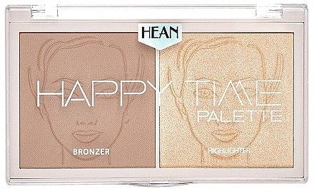 2in1 Bronzer und Highlighter für das Gesicht - Hean Happy Time Palette