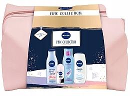 Düfte, Parfümerie und Kosmetik Körperpflegeset - Nivea XMax Pink Collection 2020 (Körperlotion 200ml + Shampoo 250ml + Körpermilch 500ml + Deo Roll-on Antitranspirant 50ml + Kosmetiktasche)