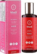 """Düfte, Parfümerie und Kosmetik Ayurvedisches Shampoo """"Rose"""" - Khadi Rose Shampoo"""