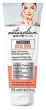 Düfte, Parfümerie und Kosmetik Aufhellende Gesichtsmaske mit Zitronen- und Kiwi-Extrakt - Naturalium White Plus Whitening Facial Mask