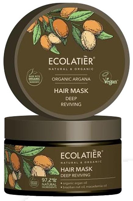 Tief belebende Haarmaske mit Arganöl - Ecolatier Organic Argana Hair Mask