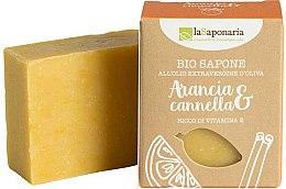 Düfte, Parfümerie und Kosmetik Verwöhnende Bio Seife mit Orange und Zimt - La Saponaria Orange & Cinnamon Soap