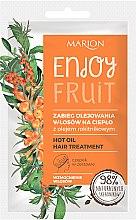 Düfte, Parfümerie und Kosmetik Wärmebehandlung mit Sanddornöl für das Haar - Marion Enjoy Fruit Hot Oil Hair Treatment
