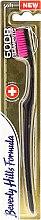 Düfte, Parfümerie und Kosmetik Zahnbürste weich 6008 Filaments schwarz-rosa - Beverly Hills Formula 6008 Filament Multi-Colour Toothbrush