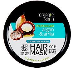 Düfte, Parfümerie und Kosmetik Pflegende Haarmaske - Organic Shop Argan And Amla Hair Mask