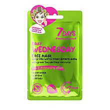 Düfte, Parfümerie und Kosmetik Beruhigende Gesichtsmaske mit Grüntee und Birnenextrakt - 7 Days Easy Wednesday