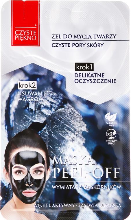 Peel-Off-Maske für das Gesicht mit Aktivkohle - Czyste Piekno Peel Off Mask