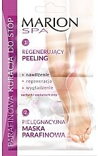 Düfte, Parfümerie und Kosmetik Regenerierende Peelingmaske für die Füße mit Paraffin - Marion SPA Mask
