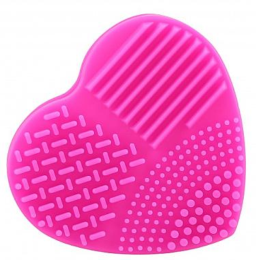 Bürstenreiniger in Herzform Fuchsia - Ilu Brush Cleaner Hot Pink